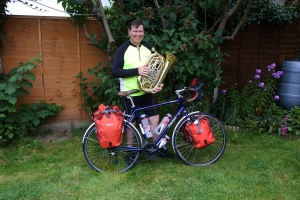 Bob with his bike prior to the sponsored ride