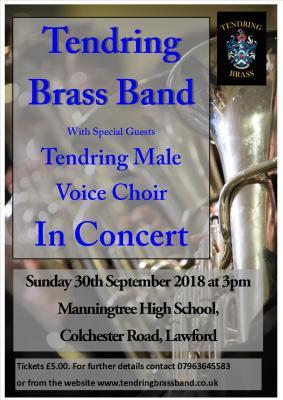 Flyer for Manningtree Concert Master