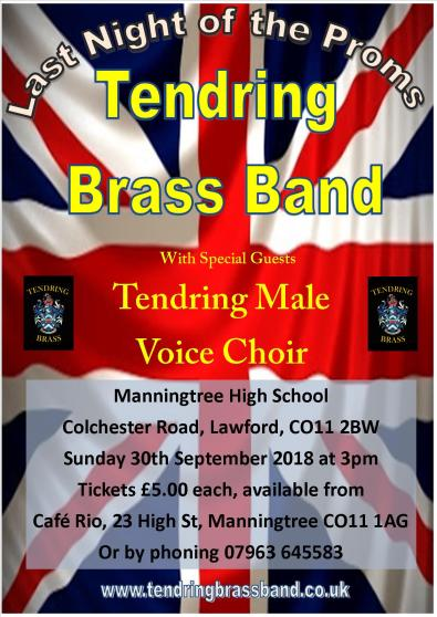 Flyer for Manningtree Last Night of the Proms Concert Master
