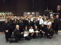 Band celebrating a fantastic achievement