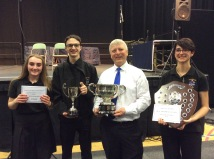 Musical Director Antony, Principle Cornet Ellie, Principle Trombone Saffina and Bass Section leader Ed.cornete cornet