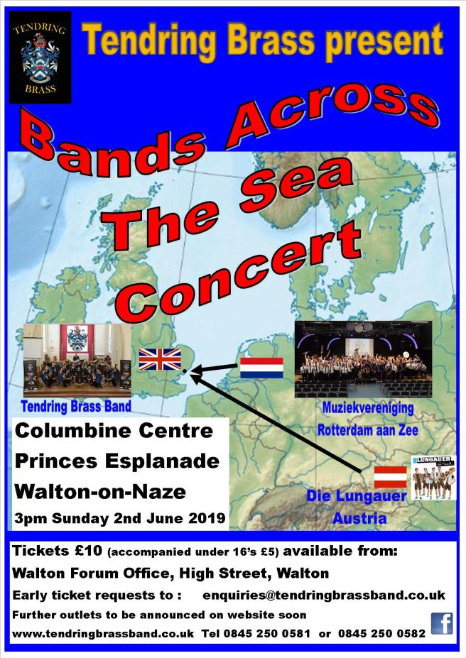 Bands Across the Sea Concert Poster Master